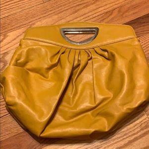 Handbags - Mustard yellow fashion handbag